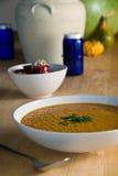 Sopa de lenteja roja Foto de archivo libre de regalías