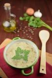 Sopa de lentilha ácida Fotografia de Stock Royalty Free