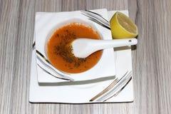 Sopa de lentilha Fotos de Stock