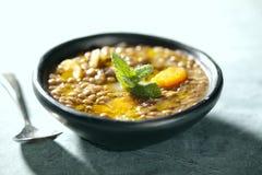 Sopa de lentilha Fotos de Stock Royalty Free