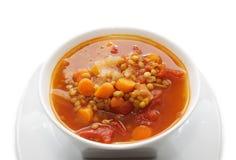 Sopa de lentilha Fotografia de Stock Royalty Free