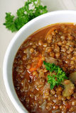 Sopa de lentilha Imagem de Stock