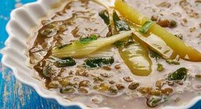Sopa de lentilha indiana Fotos de Stock