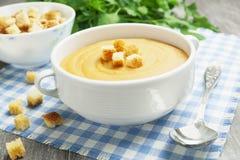 Sopa de lentilha vermelha Fotos de Stock Royalty Free