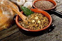 Sopa de lentilhas imagem de stock