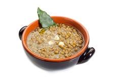 Sopa de lentilhas imagens de stock royalty free