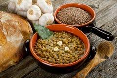 Sopa de lentilhas imagem de stock royalty free