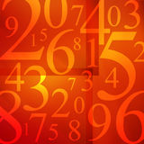 Sopa de los números Imagenes de archivo