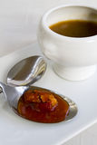 Sopa de los pescados Fotos de archivo libres de regalías