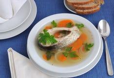 Sopa de los pescados imagenes de archivo