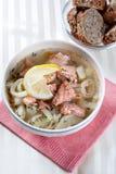 Sopa de los pescados Foto de archivo libre de regalías
