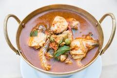 Sopa de los pescados de Tom Yum Thai Fotografía de archivo