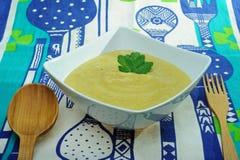 Sopa de los puerros Imagen de archivo libre de regalías