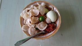 Sopa de macarronete imagem de stock
