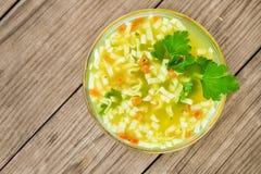Sopa de macarronete Foto de Stock