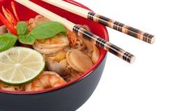 Sopa de macarronete asiática imagem de stock royalty free