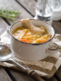 Sopa de macarronete da galinha Fotos de Stock