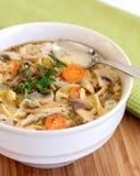 Sopa de macarronete da galinha Foto de Stock