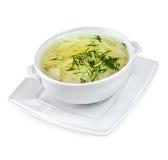 Sopa de macarronete da galinha isolada Imagens de Stock Royalty Free