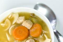 Sopa de macarronete de Turquia Imagem de Stock