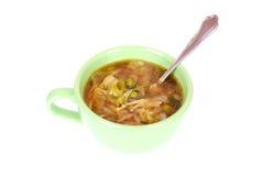 Sopa de macarronete do repolho chinês Imagem de Stock Royalty Free