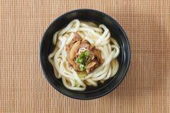 Sopa de macarronete do Udon foto de stock