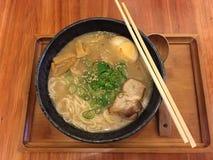 Sopa de macarronete japonesa Fotos de Stock Royalty Free