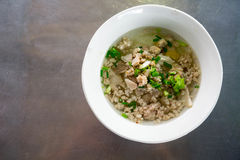 Sopa de macarronete tailandesa Fotografia de Stock