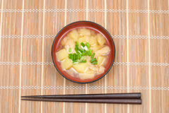 Sopa de Miso fotos de stock royalty free