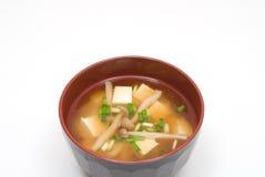 Sopa de Miso Imagen de archivo libre de regalías