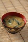 Sopa de Miso Fotografía de archivo