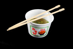 Sopa de Miso Fotografia de Stock Royalty Free