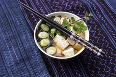 Sopa de Miso Imagem de Stock