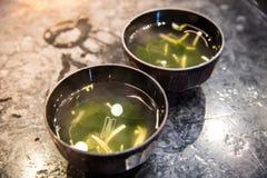 Sopa de Miso Imagen de archivo