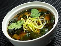 Sopa de Miso, alimento japonês imagens de stock
