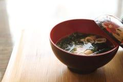 Sopa de Miso, comida japonesa foto de archivo