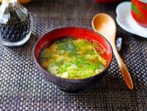 Sopa de Miso de cima de Imagens de Stock Royalty Free
