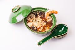 Sopa de miso de la gamba Foto de archivo