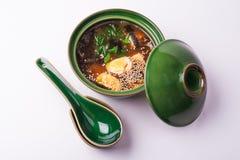 Sopa de miso de los pescados Fotografía de archivo libre de regalías