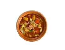 Sopa de Mondongo. Dish is from Latin America and the Caribbean royalty free stock photos