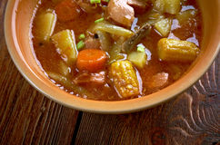 Sopa de Mondongo. Dish is from Latin America and the Caribbean royalty free stock image
