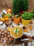 Sopa de Pampkin foto de archivo libre de regalías