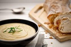 Sopa de patata Fotos de archivo