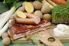 Sopa de patatas Imagen de archivo libre de regalías