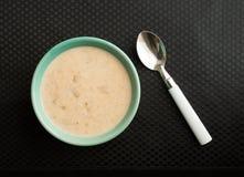 Sopa de peixe de milho da lagosta com colher Imagens de Stock