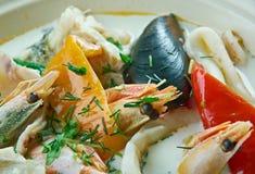 Sopa de peixe de peixes do coco Imagem de Stock Royalty Free
