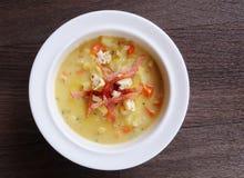 Sopa de pescado de la coliflor Fotografía de archivo