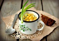 Sopa de pescado de maíz Imagen de archivo libre de regalías
