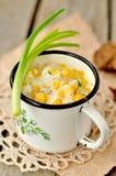 Sopa de pescado de maíz Fotografía de archivo