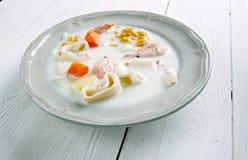 Sopa de pescado de pescados irlandesa Fotos de archivo libres de regalías